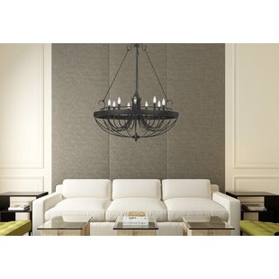 August Grove Beuvron 9-Light Candle Style Chandelier