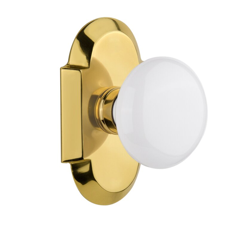 Nostalgic Warehouse White Porcelain Privacy Door Knob With Cottage Plate Reviews Wayfair