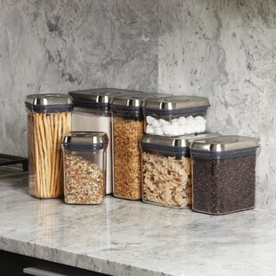 SteeL Rectangle Pop 80 Oz. Food Storage Container