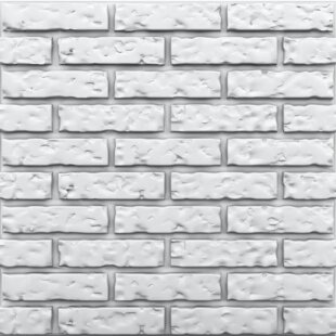 Faux Brick White Wall Paneling You Ll Love In 2021 Wayfair