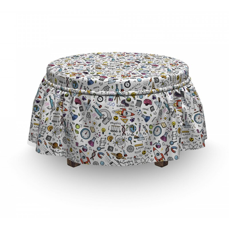 East Urban Home Ambesonne Educational Ottoman Cover