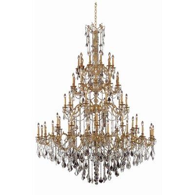 Utica 60 Light Candle Style Chandelier Astoria Grand Crystal Grade Swarovski Element Color Pewter