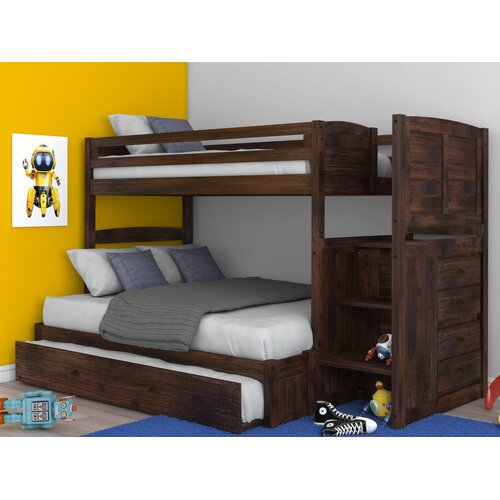 Greyleigh Orval Twin Over Full Bunk Bed With 3 Drawers Reviews Wayfair Ca