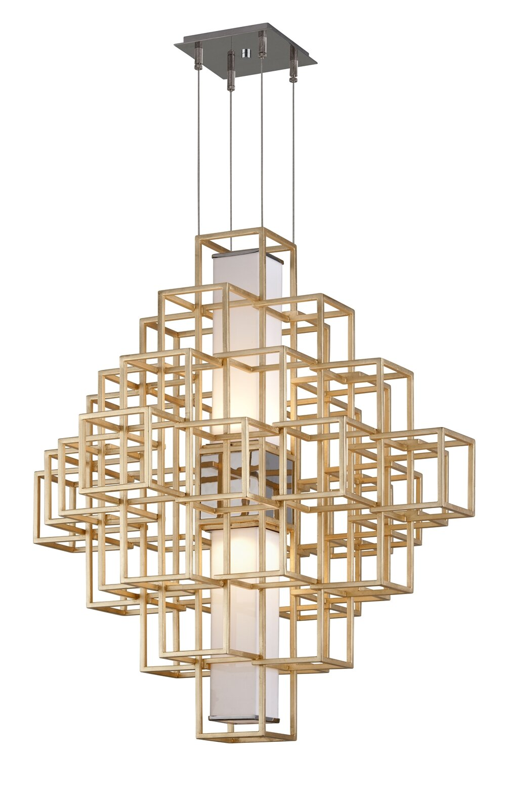 Corbett Lighting Metropolis 2 Light Unique Statement Geometric Chandelier Wayfair