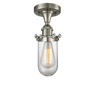 Amell 1-Light Semi Flush Mount by 17 Stories
