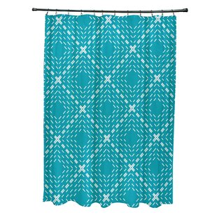 Wrought Studio Shirley Dots and Dashes Shower Curtain