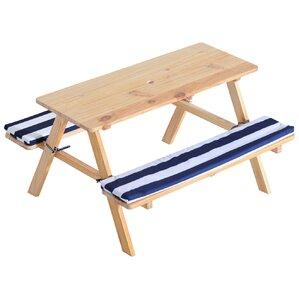 Wooden Outdoor Kids Rectangular Picnic Table