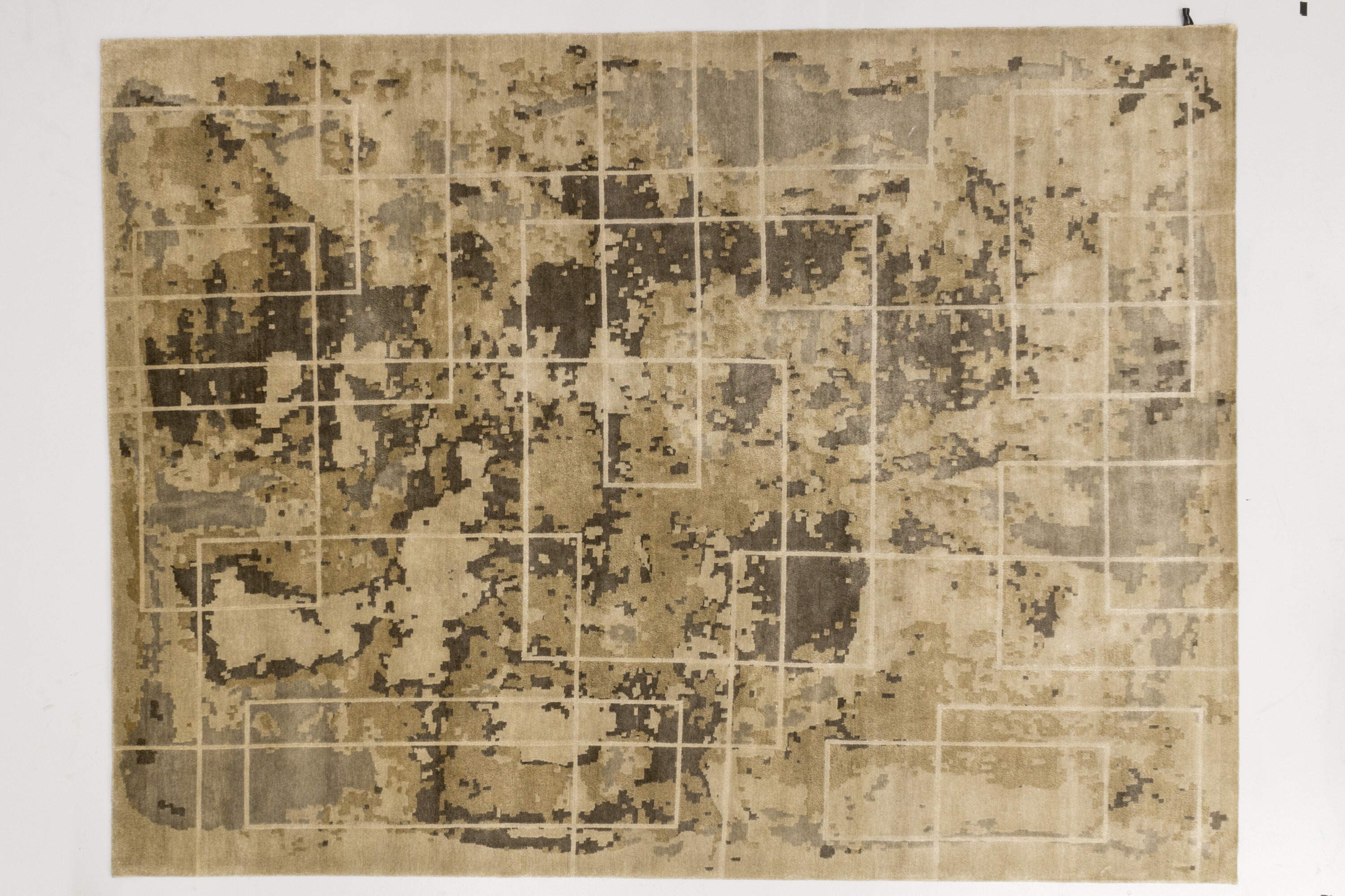 Solo Rugs Grit And Ground Abstract Hand Knotted Beige Rug Perigold