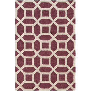 Arise Evie Hand-Tufted Maroon Area Rug