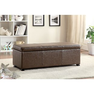 Hokku Designs Wendell Leather Storage Bench
