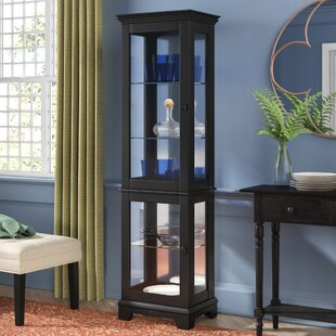 Alcott Hill Krueger Lighted Curio Cabinet
