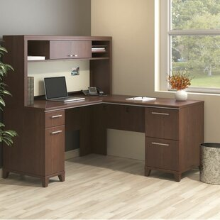 Bush Business Furniture Enterprise 2 Piece L-Shape Desk Office Suite