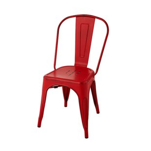 Chiara Industrial Stackable Dining Chair Williston Forge