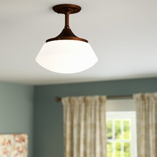 Savane 1-Light Semi-Flush Mount by Laurel Foundry Modern Farmhouse