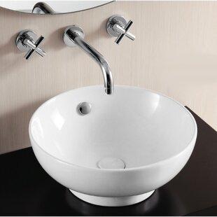 Caracalla Ceramica II Ceramic Circular Vessel Bathroom Sink