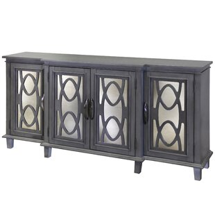 House of Hampton Montiel 4 Door Breakfront Mirrored Media Sideboard