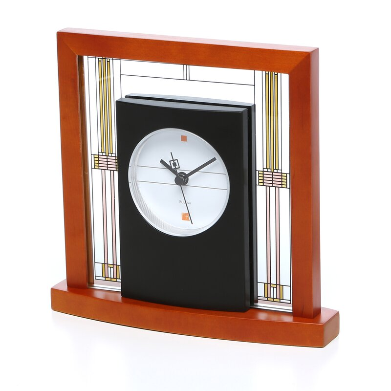 Frank Lloyd Wright Willits Table Mantel Clock  sc 1 st  Wayfair & Bulova Frank Lloyd Wright Willits Table Mantel Clock u0026 Reviews | Wayfair