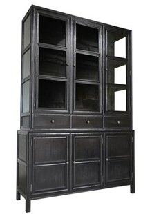 Noir Colonial China Cabinet