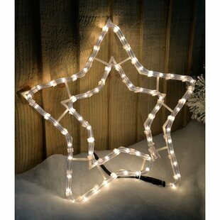 Christmas Star 0.34m LED Rope Lighted Display Image