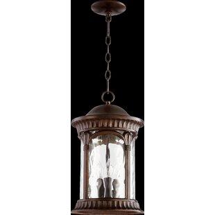 Fleur De Lis Living Witte 3-Light Outdoor Hanging Lantern