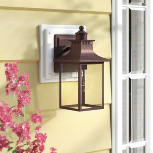 Reviews Tewksbury 1-Light Outdoor Wall Lantern By Alcott Hill