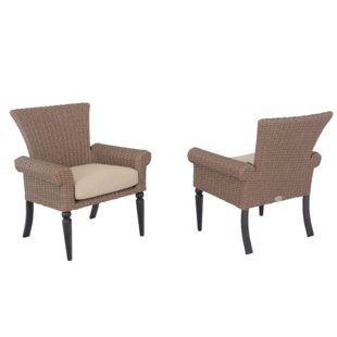 Pacific Shoreline Patio Dining Chair with Cushion