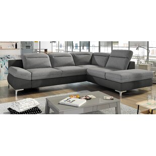 Laura Sleeper Sectional With Ottoman by Orren Ellis Today Only Sale