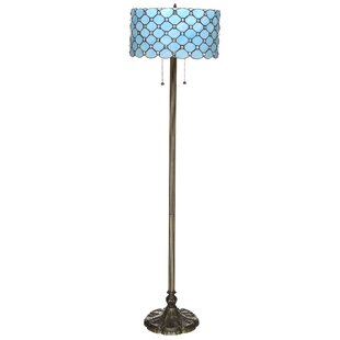 Turquoise floor lamp wayfair save mozeypictures Images
