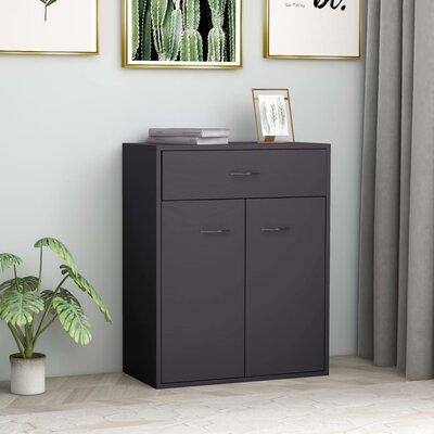 Ebern Designs Storino 23.6 Wide 1 Drawer Sideboard  Color: Gray