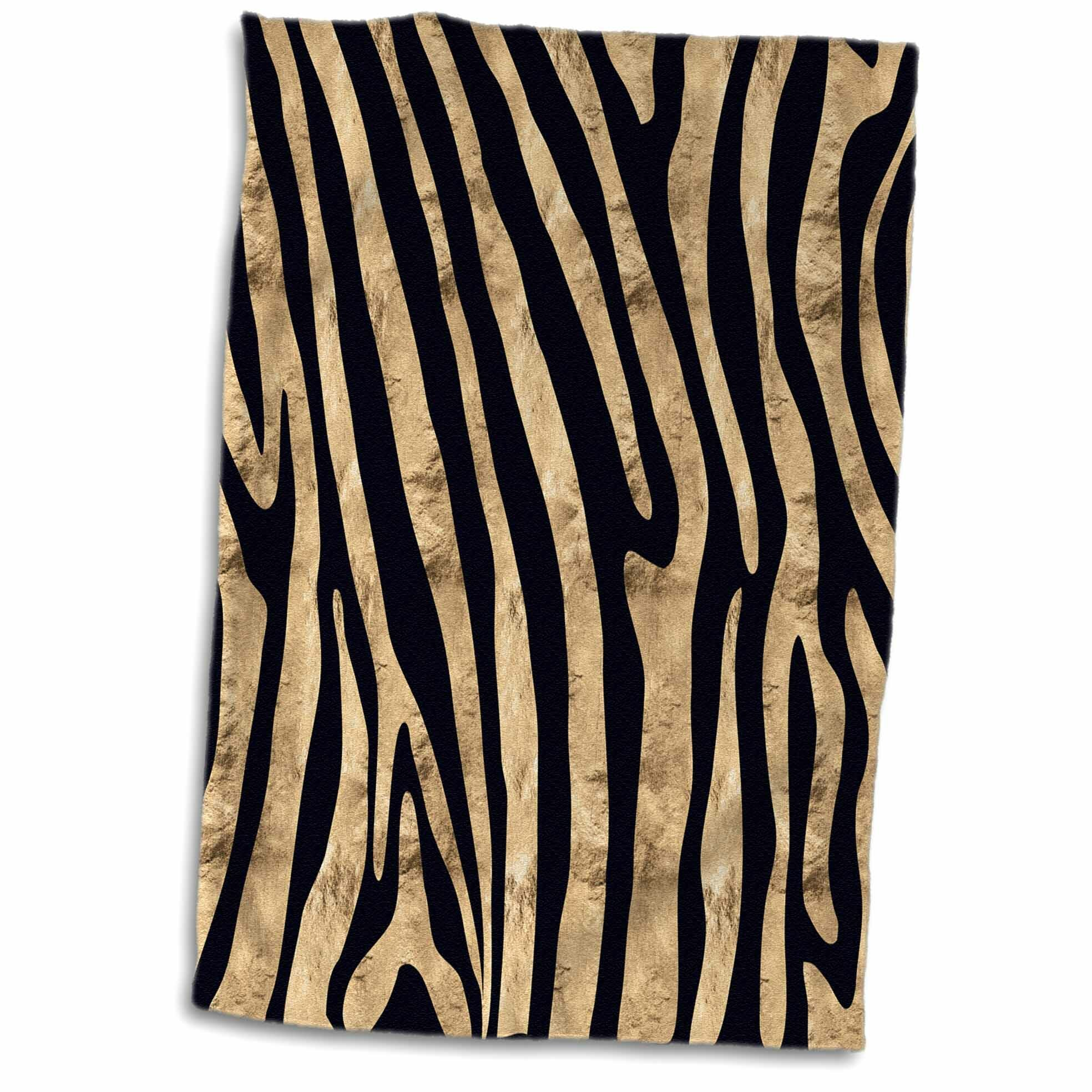 Zebra Tea Towels: East Urban Home Eddy Bold Faux Zebra Stripes Pattern Tea