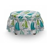 Sailing Boat Ottoman Slipcover (Set of 2) by East Urban Home