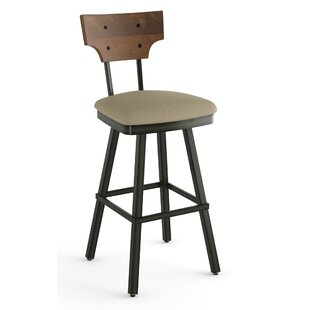 Estefania 30 Swivel Bar Stool by 17 Stories Great price