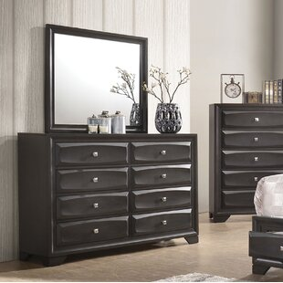 Latitude Run Hersacher 8 Drawer Double Dresser with Mirror Image