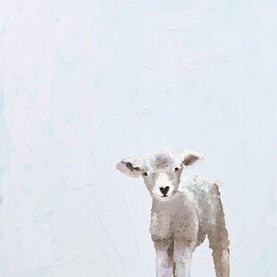 Baby Sheep Canvas Art