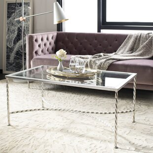 Reynaldo Glass Top Coffee Table