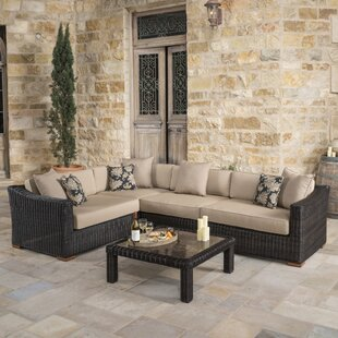 Monroeville 5 piece Sunbrella Sectional Set with Cushions by Darby Home Co