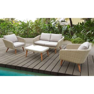 Llanas 4 Piece Sofa Set with Cushions