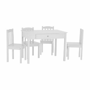 Wollara Children's 5 Piece Rectangular Table And Chair Set By Harriet Bee