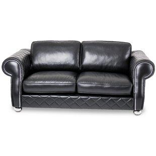 Mia Bella Lugano Leather Sofa