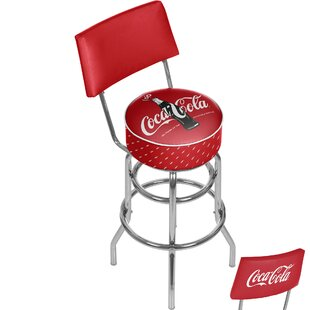 Coca Cola 31 Swivel Bar Stool Trademark Global