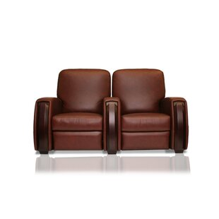 Celebrity Leather Home Theater Row seating Row of 2 by Bass