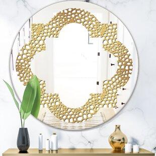 Quatrefoil Maze Modern  Contemporary Frameless Wall Mirror by East Urban Home