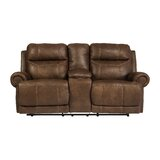 Culver 80 Wide Faux Leather Round Arm Reclining Loveseat by Red Barrel Studio®