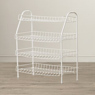 Great Price 4-Tier Shoe Rack By Rebrilliant