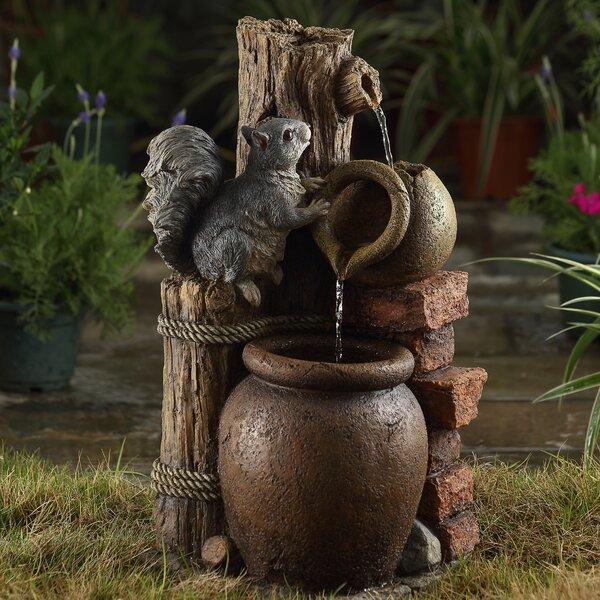 Jeco Inc Resin Fiberglass Multi Tier Pots Water Fountain Wayfair