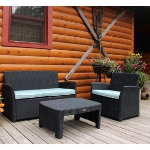 Highland Dunes Gains 3 Piece Sofa Set with Cushions