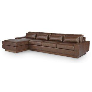 Dunn Leather Sectional by One For Victory