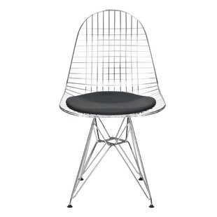 Nicastro Mesh Eiffel Upholstered Dining Chair by Wrought Studio