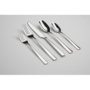 Resto 60 Piece 18/10 Stainless Steel Flatware Set, Service for 12