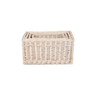 Storage Open Wicker Basket By Brambly Cottage